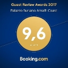 BOOKING.COM AWARD 2017 - A fantastic score (9.6) for Palazzo Suriano Amalfi Coast