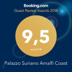BOOKING.COM AWARD 2018 - A fantastic score (9.5) for Palazzo Suriano Amalfi Coast