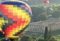 Aperitif Balloon in the archeologic greek site of Paestum